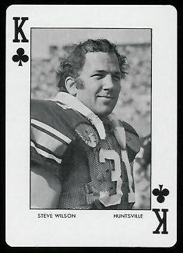 Steve Wilson 1972 Auburn Playing Cards football card