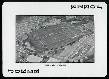 Cliff Hare Stadium 1972 Auburn Playing Cards football card