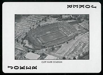 Cliff Hare Stadium 1972 Auburn Playing Cards football card