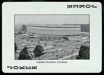 Auburn Memorial Coliseum 1972 Auburn Playing Cards football card