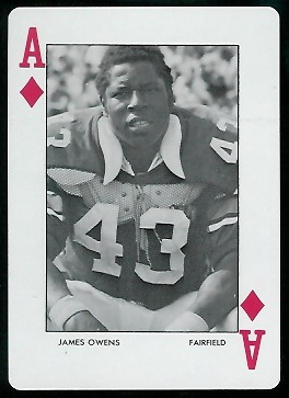 James Owens 1972 Auburn Playing Cards football card