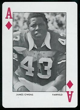 James Owens 1972 Auburn Playing Cards football card