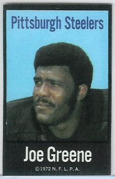 Joe Greene 1972 NFLPA Iron Ons football card