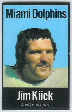 Jim Kiick 1972 NFLPA Iron Ons football card