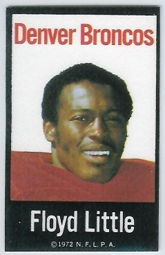 Floyd Little 1972 NFLPA Iron Ons football card