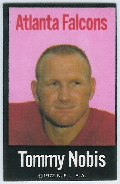 Tommy Nobis 1972 NFLPA Iron Ons football card