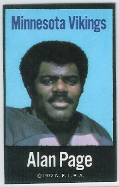 Alan Page 1972 NFLPA Iron Ons football card
