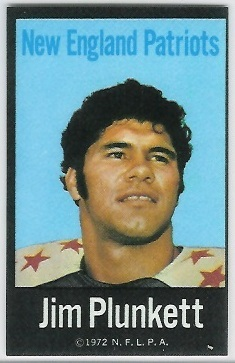 Jim Plunkett 1972 NFLPA Iron Ons football card