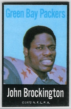 John Brockington 1972 NFLPA Iron Ons football card