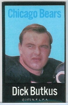 Dick Butkus 1972 NFLPA Iron Ons football card
