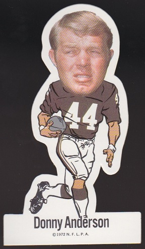 Donny Anderson 1972 NFLPA Vinyl Stickers football card