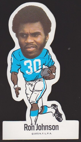 Ron Johnson 1972 NFLPA Vinyl Stickers football card