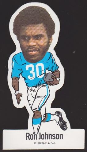 Ron Johnson 1972 NFLPA Vinyl Stickers football card