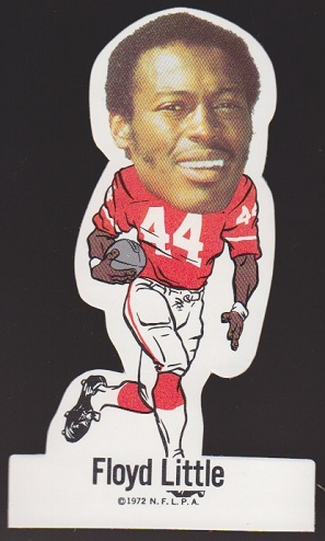 Floyd Little 1972 NFLPA Vinyl Stickers football card