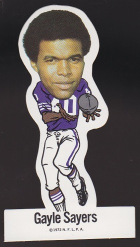 Gale Sayers 1972 NFLPA Vinyl Stickers football card