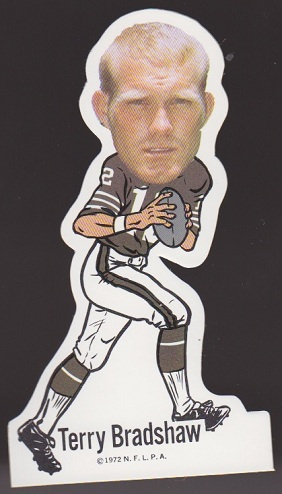 Terry Bradshaw 1972 NFLPA Vinyl Stickers football card