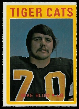 Mike Blum 1972 O-Pee-Chee CFL football card
