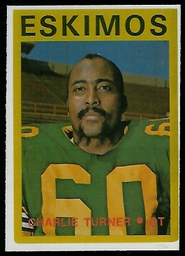 Charlie Turner 1972 O-Pee-Chee CFL football card