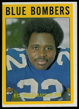 Ed Williams 1972 O-Pee-Chee CFL football card