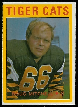 Doug Mitchell 1972 O-Pee-Chee CFL football card