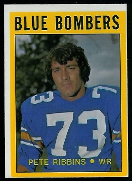 Pete Ribbins 1972 O-Pee-Chee CFL football card