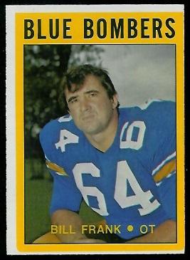 Bill Frank 1972 O-Pee-Chee CFL football card