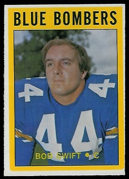 Bob Swift 1972 O-Pee-Chee CFL football card