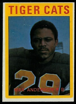 Max Anderson 1972 O-Pee-Chee CFL football card
