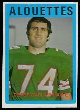 Peter Dalla Riva 1972 O-Pee-Chee CFL football card