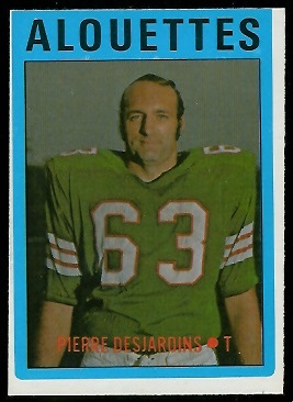 Pierre Desjardins 1972 O-Pee-Chee CFL football card