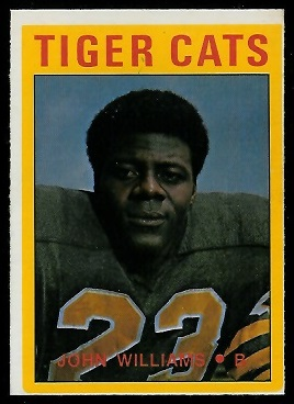 John Williams 1972 O-Pee-Chee CFL football card