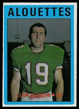 Larry Fairholm 1972 O-Pee-Chee CFL football card