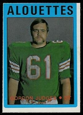 Gordon Judges 1972 O-Pee-Chee CFL football card