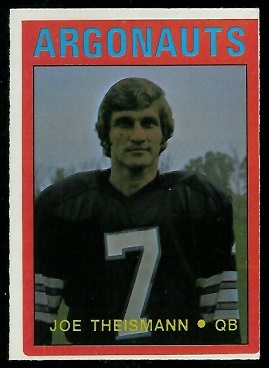 Joe Theismann 1972 O-Pee-Chee CFL football card
