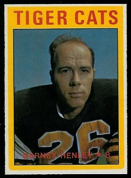 Garney Henley 1972 O-Pee-Chee CFL football card
