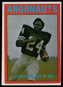 Leon McQuay 1972 O-Pee-Chee CFL football card