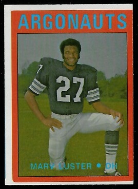 Marv Luster 1972 O-Pee-Chee CFL football card