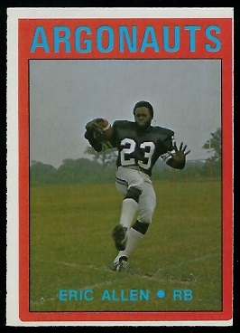 Eric Allen 1972 O-Pee-Chee CFL football card