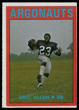 Eric Allen 1972 O-Pee-Chee CFL football card