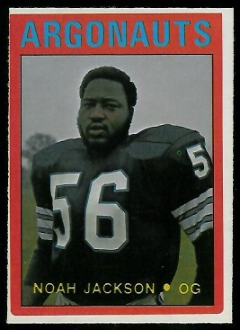 Noah Jackson 1972 O-Pee-Chee CFL football card