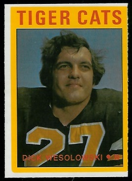 Dick Wesolowski 1972 O-Pee-Chee CFL football card