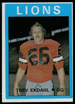 Trevor Ekdahl 1972 O-Pee-Chee CFL football card