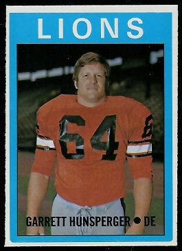 Garret Hunsperger 1972 O-Pee-Chee CFL football card