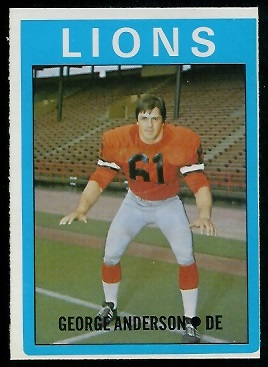 George Anderson 1972 O-Pee-Chee CFL football card