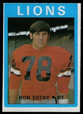 Ron Estay 1972 O-Pee-Chee CFL football card