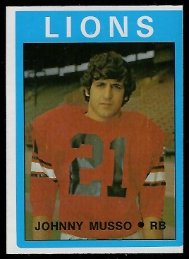 Johnny Musso 1972 O-Pee-Chee CFL football card