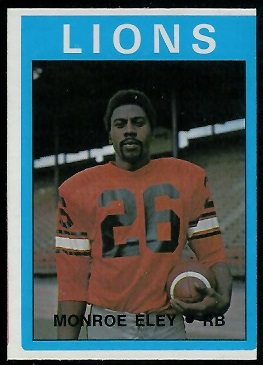 Monroe Eley 1972 O-Pee-Chee CFL football card