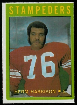 Herman Harrison 1972 O-Pee-Chee CFL football card