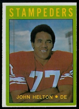 John Helton 1972 O-Pee-Chee CFL football card