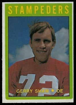 Gerry Shaw 1972 O-Pee-Chee CFL football card